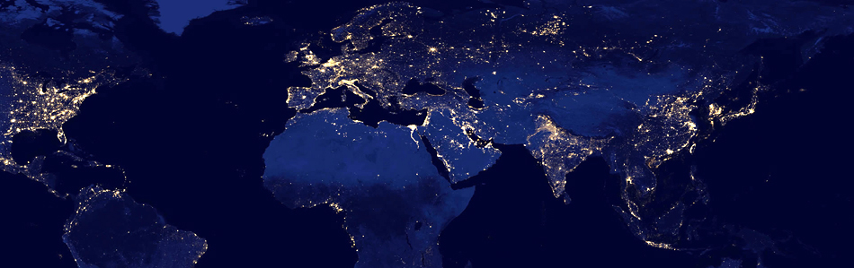 زمين در شب